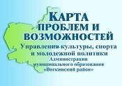Карта проблем и возможностей Управления культуры, спорта и молодежной политики Администрации муниципального образования «Воткинский район»